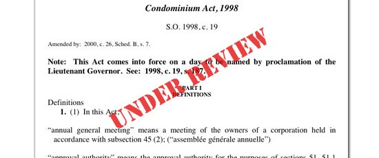 Condominium Act Under Review